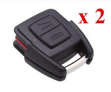 2 x Funkschlüssel Autoschlüssel Gehäuse 2 Tasten Ersatz für Opel Astra Zafira