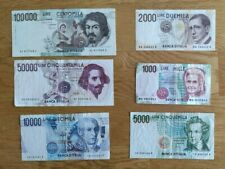 More details for italian banknotes set of 6
