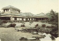 Rear View of a Japanese Nobleman's House  - 1902 Japan Lithograph NICE