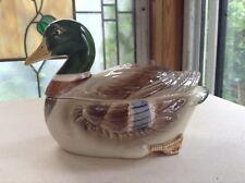Vintage Otagiri 1981 Mallard Duck Drake  Sugar Bowl