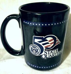 50 STATE QUARTERS COFFEE MUG 1998  U.S. MINT Silver Phoenix Linyi