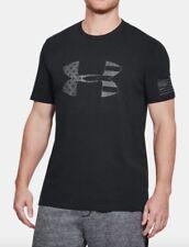 Under Armour * UA Freedom Tonal BFL Heatgear Tshirt Black for Men