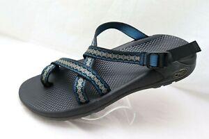 Men's Chaco Size 12 Sandals Toe Loop Blue Vibram Adjustable Strap Buckle