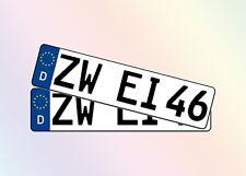 2 Stück KFZ Kennzeichen 46cm x 11cm Autoschilder 1 Paar Satz Nummernschilder