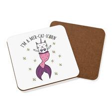 I'm A Mer-cat-icorn Coaster Drinks Mat - Funny Mermaid Caticorn Cat Unicorn