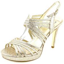 Sandalias y chanclas de mujer de color principal oro de lona Talla 39.5