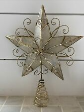 Vintage Gold Wire Capiz Shell 5 Point Star Christmas Tree Topper - Kurt Adler ?