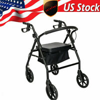 Heavy Duty Rollator Walker with  4 Wheels, 500 lb. Capacity Extra Wide Seat