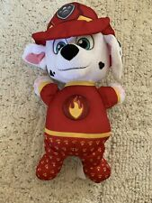 PAW PATROL MARSHALL PLUSH Bedtime LIGHT UP FIRE FIGHTER DALMATIAN DOG - EUC!