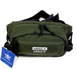 adidas Originals Unisex Utility Crossbody Bag/Fannypack/Waistbag Olive/Black