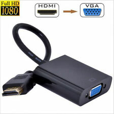 CABLE CONVERSOR DE HDMI MACHO A VGA HEMBRA CON CABLE AUDIO JACK - COLOR NEGRO