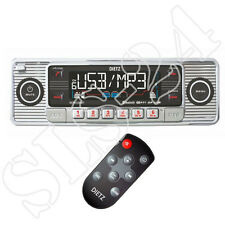 Retro Look Autoradio USB SD/MMC CD/MP3 Player mit Bluetooth A2DP Radio+FB Chrom
