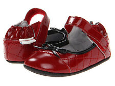 Robeez Caroline Red Leather Mary Janes 3-6 Months/2US