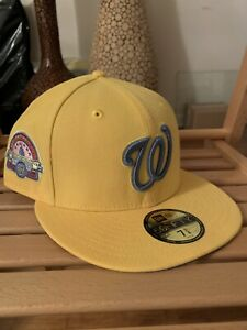 New Era 59Fifty Washington Nationals 7 3/8 Wario MyFitteds Yellow Blue