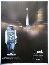 PUBLICITE-ADVERTISING :  GIRARD-PERREGAUD Vintage 1945  2015 Dubail,Montres