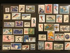 SKIING & WINTER OLYMPICS ON STAMPS TOPIC Stamp Collection FREE SHIPPING lot 5