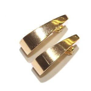 14k yellow gold half hoop J hook earrings 1.6g womens estate