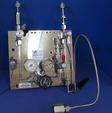 5%O2/Helium Gas Panel Assy w/ Tescom Regulator & CGA 580 Bottle Fitting, Refrb