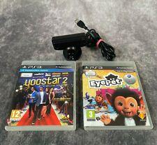 Sony Playstation 3 ps3 Eye Kamera + 2 Spiele Eye Pet Yoostar 2 Family Fun Bundle