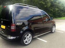 Para adaptarse a 2010 a 2015 Volkswagen Caddy Acero Inoxidable Barras Laterales Pasos + LEDs blancos