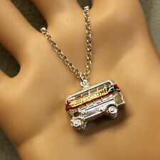 SILVER second hand dunfermline bus pendant & chain