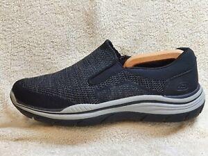 Skechers Air-Cooled Memory Foam mens Slip On Comfort trainers Black UK 10 EUR 45