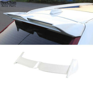 Car Glossy White Rear Roof Spoiler Top Lip Wing Fit For Volvo XC60 2018-2021