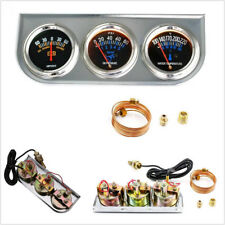 2 inch Voltmeter+Water Temp +Oil Pressure Auto Gauge Meter 3in1 Triple Gauge Kit