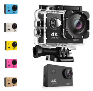 PRO CAM 4K WIFI DV CAMERA ULTRA HD 16MP SPORT ACTION VIDEOCAMERA SUBACQUEA 30M