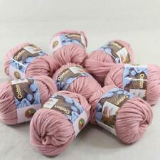 Lot of 8BallsX50g Chunky Cotton Special Smooth Scarf Hand Knitting Yarn PinkRose