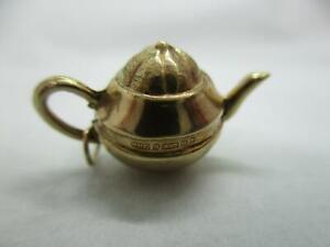 9ct Gold Vintage Tea Pot Charm/Pendant, 9k 375