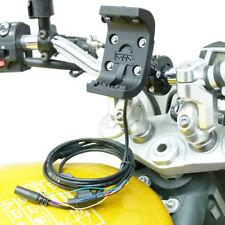 Audio/Cable de alimentación 9cm Extended Motocicleta De Montaje Para Garmin Montana