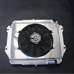 Aluminum Radiator + Fan Shroud For Daihatsu Rocky 2.8L Diesel MT 84-98 2 Rows