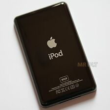 Custom BLACK 80GB Back Housing For iPod Classic Rear Cover Plate Panel - UK