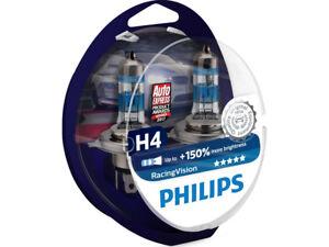 2x NEW PHILIPS RACING VISION +150% H4 9003 HB2 12342RVS2 HALOGEN HEADLIGHT BULBS