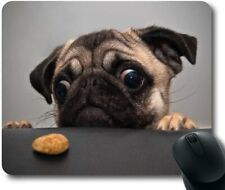 Gaming Mouse Pad Mat PC Laptop Office Mousepad Lovely Pug Dog Non-Slip 8.7''x7''