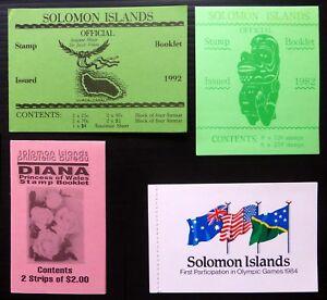 SOLOMON ISLANDS Complete Booklets (4) NC1847