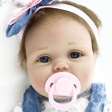 "Reborn Baby Dolls Realistic Newborn Lifelike Vinyl Girl Baby Doll 22"" Handmade"