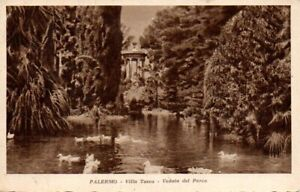 @1 Cartolina-Postcard  Palermo Villa Tosca veduta del parco Viaggiata
