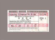 Ticket Konzertkarte Sammlerticket - SAGA - Hamburg 1990