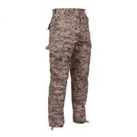 DESERT DIGITAL Camo Cargo Pants BDU Military USMC Army Navy Marines MARPAT Style