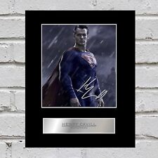 Henry Cavill Signed Mounted Photo Display Superman