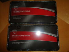 Auto Drive Black Heavy Duty Plastic License Plate Frame With Cover 22-1-64600-W