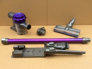DYSON V6 ANIMAL HANDHELD WITH MOTORISED HEAD, WALL MOUNT & CHARGER   - WORKING