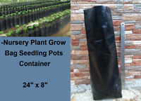 "M. 8 pcs Nursery Plant Grow Bag Seedling Pots Container, Planting Bags 24"" x 8"""