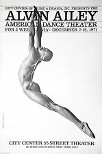 Alvin Ailey Dance Company  City Center Theater Original Photo Litho Poster 1971