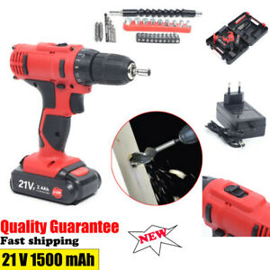 Heavy Duty 21V Electric Drill Cordless Electric Screwdriver Drill Set
