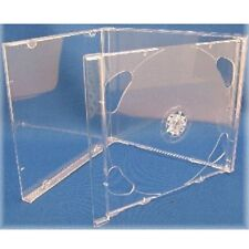 1 CLEAR DOUBLE JEWEL CD Case (New)