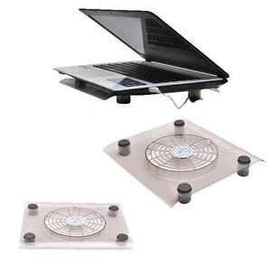 "10-13"" External USB Laptop Notebook Cooling Cooler Fan Pad Tray Stand Blue Light"