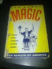 kd Magic, CUB SCOUT MAGIC BOOK (1960) Tricks, Puzzles, Stunts, Games, Boy Scouts